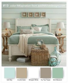 Get inspired by Coastal Bedroom Design photo by Wayfair. Wayfair lets you find the designer products in the photo and get ideas from thousands of other Coastal Bedroom Design photos. Beach House Bedroom, Beach House Decor, Home Bedroom, Home Decor, Seaside Cottage Decor, Beach House Furniture, Beach Bedroom Decor, Bedroom Rustic, Coastal Furniture