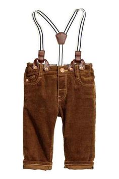 Corduroy trousers with braces
