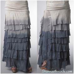 Layered Jersey Skirt ~ Gray | Shannasthreads