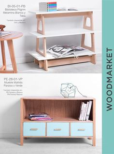 decor to make Small Furniture, Plywood Furniture, Home Decor Furniture, Furniture Design, Modern Bookcase, Home Organization, Interior Design Living Room, Home Accessories, Shops