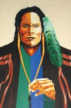 UNTITLED; NATIVE PORTRAIT,  Acrylic on canvas Terry McCue kp