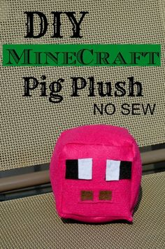 DIY Minecraft Pig Plush toy NO SEW tutorial - Currently working on a torch Creeper enderman Steve and a few others!: DIY Minecraft Pig Plush toy NO SEW tutorial - Currently working on a torch Creeper enderman Steve and a few others! Minecraft Pattern, Minecraft Toys, Minecraft Crafts, Minecraft Ideas, Fun Crafts To Do, Diy Crafts For Kids, Educational Crafts, Sell Diy, Tape Crafts
