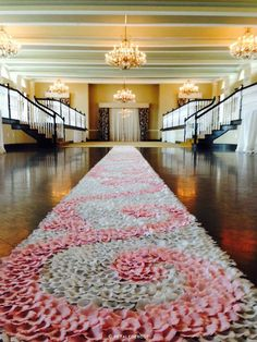 Blush & Ivory Petal Swirl Aisle Runner by PetaleDeRose on Etsy | The A to Z Guide to Planning an Etsy Wedding