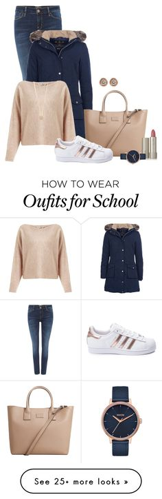 """""""Go to school!"""" by perlablu26 on Polyvore featuring GUESS, Barbour, MANGO, Miss Selfridge, adidas, Ron Hami, Ilia, Nixon and Kate Spade"""