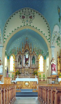 The jaw-droppingly beautiful painted churches of Texas on Roadtrippers