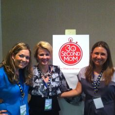 #30SecondMom @annettejett1 w/Amy of @wondermommyamy & Lisa of @littletrendyz at #SheStreams