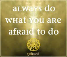 """A beautiful quote for the Manipura or SOLAR PLEXUS Chakra by Ralph Waldo Emerson - """"Always do what you are afraid to do."""""""