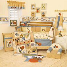 Cheap All Sports Baby Boy Crib Bedding Set Basketball Baseball Football Hockey | eBay