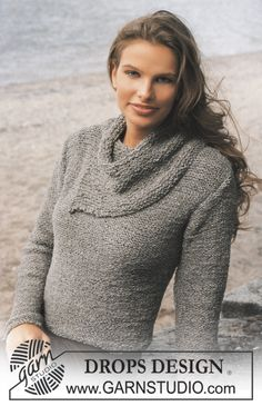 DROPS Pullover in Passion with large collar ~ DROPS Design