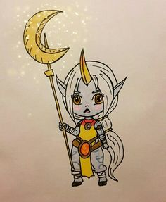 My Soraka from league of legends drawing