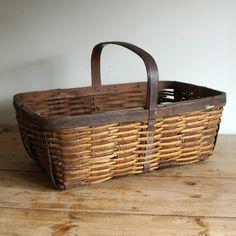 vintage herb gathering basket - love this mixture of materials