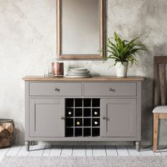 Cookham Large Grey Sideboard