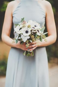 Ideas For Anemone Succulent Bouquet Bridesmaid Dresses Peony Bridesmaid Bouquet, Anemone Bouquet, Wedding Bouquets, Bridesmaid Dresses, Wedding Dresses, Succulent Bouquet, Bridesmaids, Art Deco Wedding, Floral Wedding