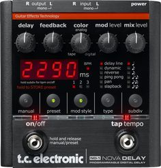TC Electronic Nova Delay Guitar Effects Unit - Andertons Music Co. Guitar Effects Pedals, Guitar Pedals, Guitar Rig, Guitar Players, Bass Guitars, Acoustic Guitar, Nova, Pedalboard, Music Store