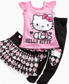 For Jessie: Hello Kitty Kids Leggings, Little Girls Argyle Leggings - Kids - Macy's
