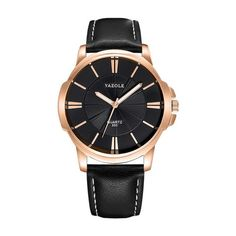 New Watches Top Brand Luxury Blue Glass Watch - ecofashionova Bracelet Sport, Style Streetwear, Sport Watches, Man Watches, Leather Watches, Leather Watch Bands, Luxury Watches For Men, Quartz Watch