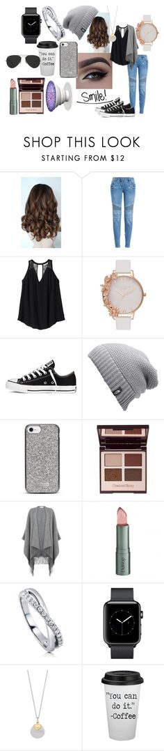 """""""Smile"""" by bethecaptain on Polyvore featuring Balmain, Rebecca Taylor, Olivia Burton, Converse, The North Face, Nanette Lepore, Warehouse, DuWop, BERRICLE and Ray-Ban"""
