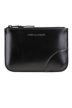 Comme Des Garcons  All Black Coin Purse #Shopafar #CommeDesGarcons #leather #luxury #fashion #bag #accessories