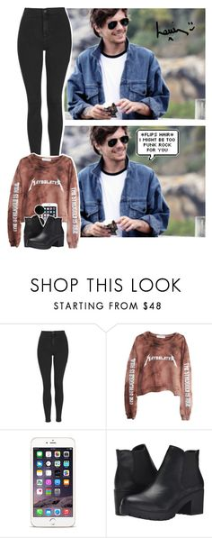 """""""Grunge with Louis Tomlinson."""" by jk-jaylene ❤ liked on Polyvore featuring Topshop, High Heels Suicide and Steve Madden"""