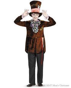 3683898ac129 Deluxe Alice In Wonderland Movie Mad Hatter Mens Costume