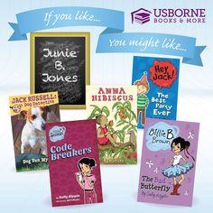 If your kids love Junie B Jones books, they will love the Hey, Jack series, Billy B. Brown series,  Jack Russell series and the Billy B. Brown mysteries. www.Suesbooks.US
