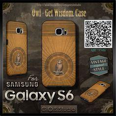Samsung Galaxy S6 Case. ★Owl - Get Wisdom★  ★ http://www.zazzle.com/vintagestylestudio ★ Amazing Phone Cases ★  #Steampunk #Samsung #samsungcases #Cases #S6 #samsunggalaxys6  #victorian #samsungcases #accessories #gosstudio