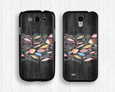 wood and fish GALAXY S4 caseS3 caseart fish by FindPhonecase, $10.99