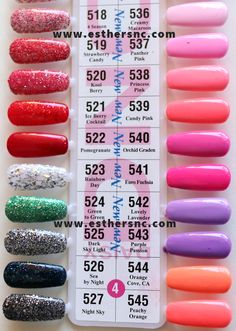 Daisy Gel Swatches Daisy Duo Soak Off Gel in 2019 dnd nail polish - Nail Polish Dnd Nail Polish, Types Of Nail Polish, Nail Polish Online, Glitter Gel Polish, Gel Polish Colors, Types Of Nails, Cute Acrylic Nails, Cute Nails, Blush Pink Nails