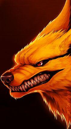 Nine tailed fox from naruto