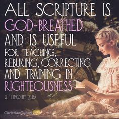 Daily Devotional - 4 Functions of God's Word: 2 Timothy Word Of Faith, Word Of God, Word 2, Scripture Quotes, Bible Scriptures, Christian Facebook Cover, Inspirational Verses, Inspiring Quotes, Sisters In Christ