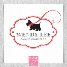 "Cute little dog walker logo! Love ""Canine Concierge"" :0)"