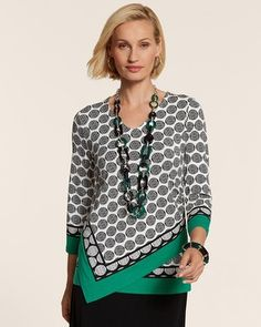 A shirt with an off center hem creates a flattering look and adds a stylish detail to your everyday outfit. (via @Love Chico's www.chicos.com)