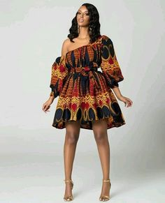 Lovely Ankara Short Gown Styles Creative Styles you will love to Rock - DeZango African Fashion Ankara, Latest African Fashion Dresses, African Print Fashion, Africa Fashion, African Wear, African Attire, African Style, African Women, Ankara Short Gown Styles