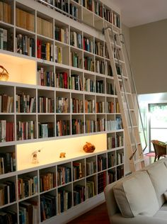 This ultra-tall wall of books that seemingly has no limit. | 24 Times Bookshelf Porn Was Just So Fucking Hot