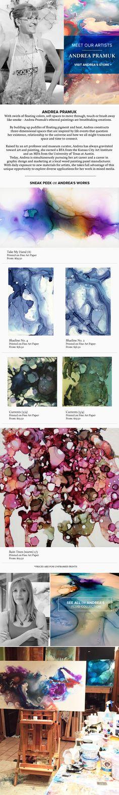 Liquid Color - A Breathtaking Collection by Andrea Pramuk @apramuk @artfullywalls #austinart #workingartist @ampersand_art