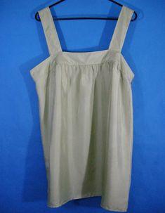 Banana Republic Size 16 Silk Sleeveless Blouse Sage Green Babydoll Tank Top   BananaRepublic  TankCami 26996d5de2e3e