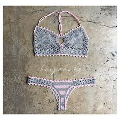 Desert rose bikini-custom crochet bikini