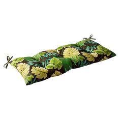 Pillow Perfect Tropique Wrought Iron Loveseat Cushions - Green