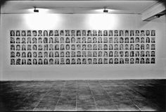 CARLOS ZUNIGA, 98 Portraits. Ink on phone book pages
