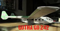 WWII Gotha Go 242 Transport Glider Free Aircraft Paper Model Download