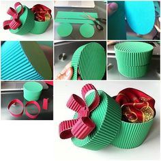 Corrugated boxes step by step DIY tutorial instructions (cajitas de carton)