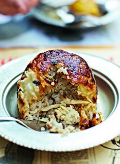 "chicken and rice ""pie""  - Turkish, make with the snake phyllo with spinach and feta"