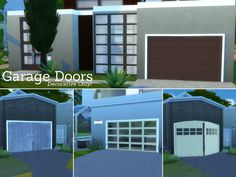 Here they are! Decorative Garage Doors for your Sims 4 homes. Found in TSR Category 'Sims 4 Construction Sets'
