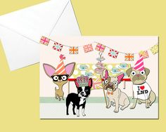 Dog Street Party Card £1.50