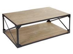 Mesa de centro de hierro y abeto