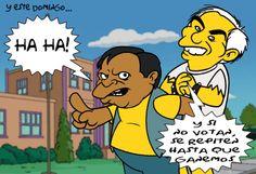 Mientras tanto Marco Turbio y Ratañeda, te invitan a su fiesta este domingo. Caricatura de Javier Prado