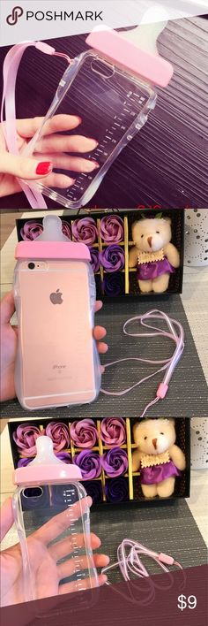 Baby iphone 6/6s,iphone 6/6s plus,iphone 5/5s case brand new For iPhone 5/5s case,iphone 6/6s or                                iphone 6/6s plus Cute Baby Pacifier Bottle  Also comes with a strap Accessories Phone Cases