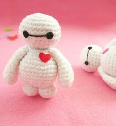 A little love everyday!: Baymax amigurumi pattern - A little love everyday!: Baymax amigurumi pattern A little love everyday! Crochet Gratis, Crochet Patterns Amigurumi, Cute Crochet, Crochet Dolls, Knitting Patterns, Knitting Toys, Ravelry Crochet, Doll Patterns, Free Knitting
