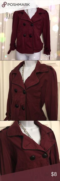 American Rag Jacket Super cute maroon colored jacket from American Rag! Great condition(: American Rag Jackets & Coats