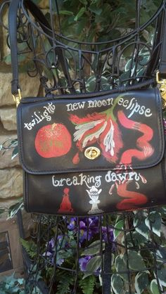 Hand painted Twilight inspired purse by LooksFromBooks on Etsy, $40.00